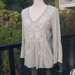 Nwt Johnny Was embroidered Top S